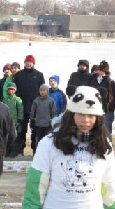 girl in panda hat
