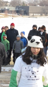 girl in panda hat