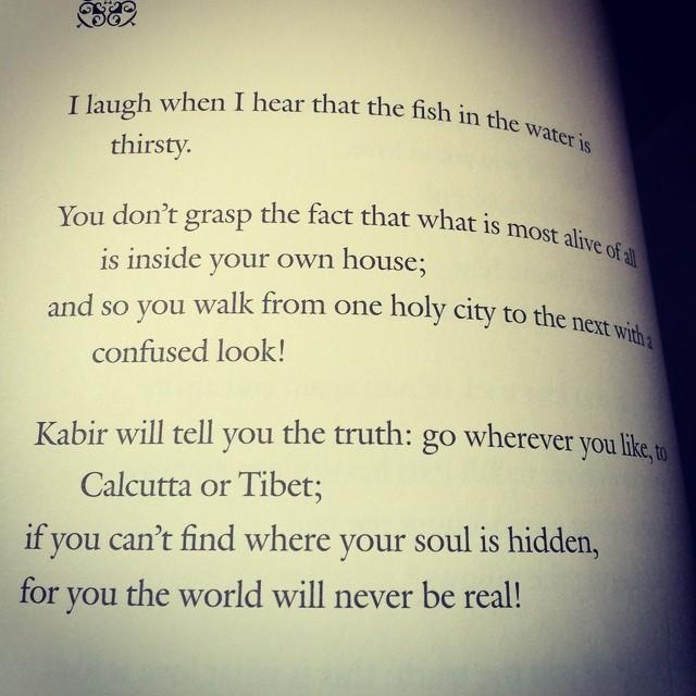 Photo of a Kabir poem