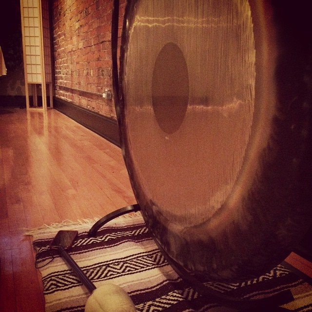 gong at River Garden Yoga