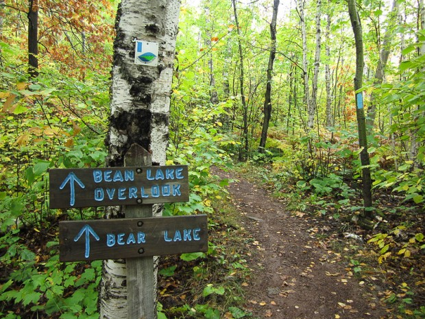 SHT signpost for bean and bear lakes